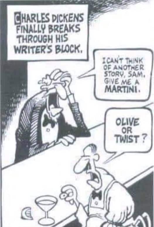 Charles Dickens had writer's block